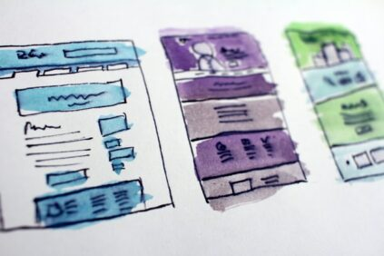 website project sketch